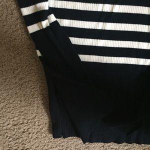 Everlane Sweaters - Everlane Mockneck Black and White Striped Sweater